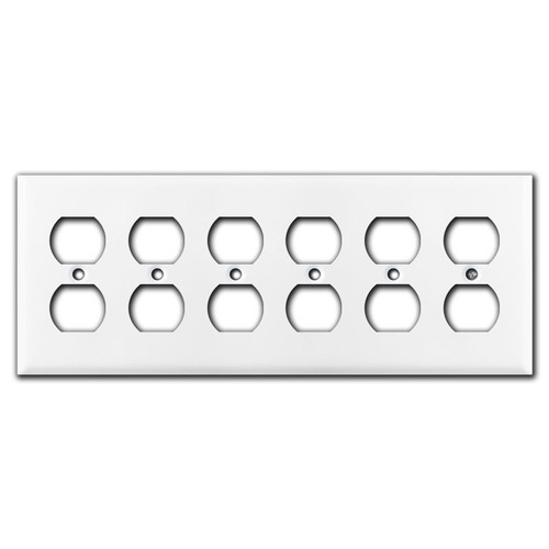 6 Outlet Wall Plate - White