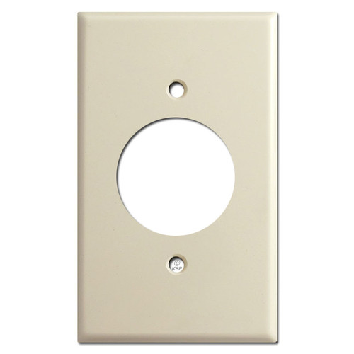 Single 20A Receptacle Cover Plates - Ivory