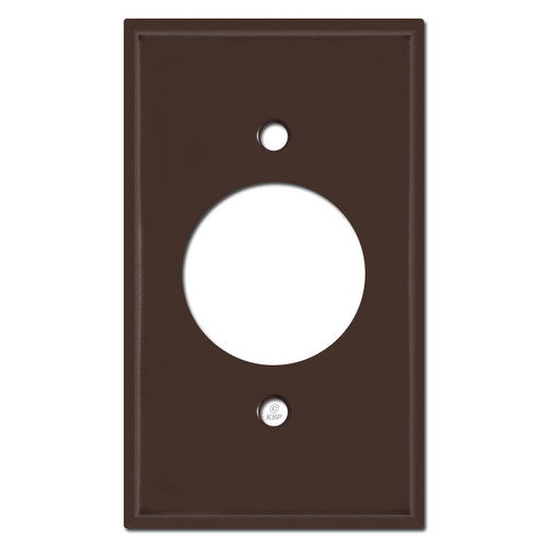 Single 20A Plug Plate Covers - Brown
