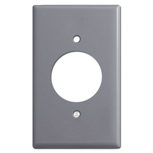 Grey Outlet Switch Plate Finish Example