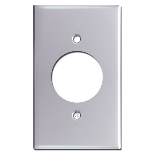 20A Power Outlet Wall Plate - Polished Chrome