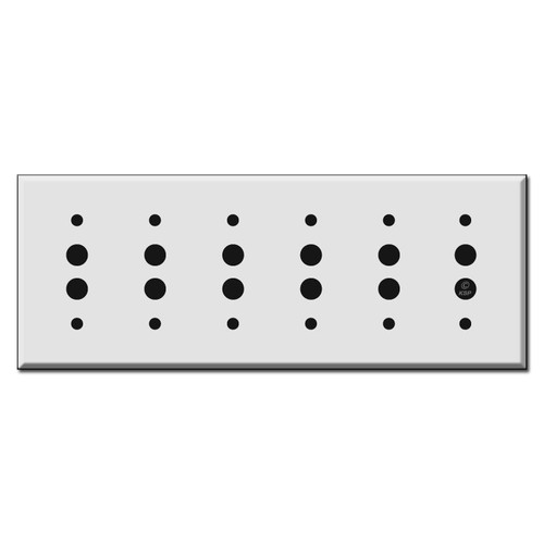 Six Push Button Wall Switch Plate Covers