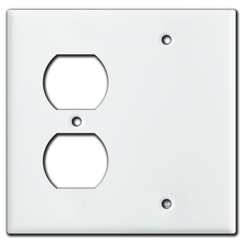 Outlet Blank Covers - White