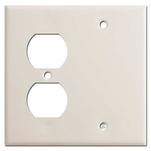 Outlet Blank Plate - Light Almond