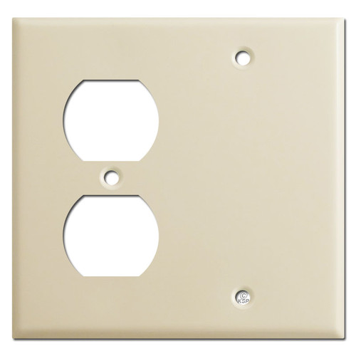 Outlet - Blank Switchplates - Ivory