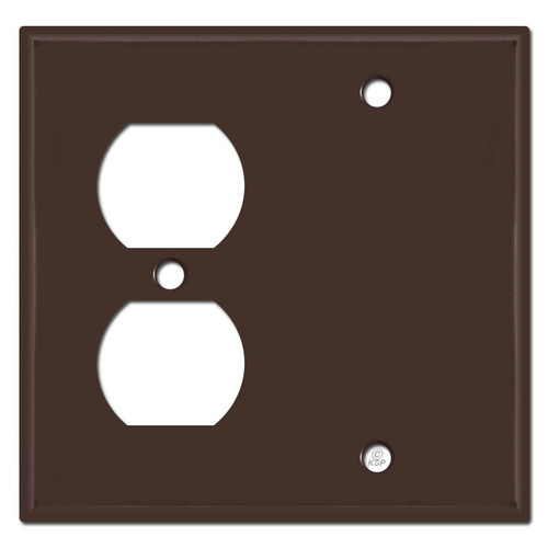 Wall Outlet Blank Cover Plates - Brown