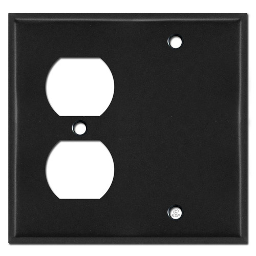 1 Electrical Outlet 1 Blank Covers - Black