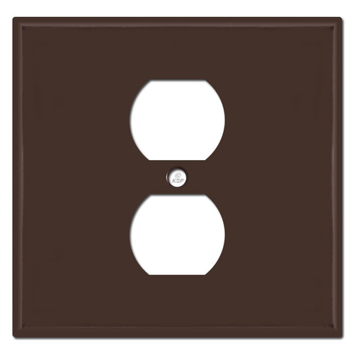 2 Gang 1 Center Outlet Covers - Brown