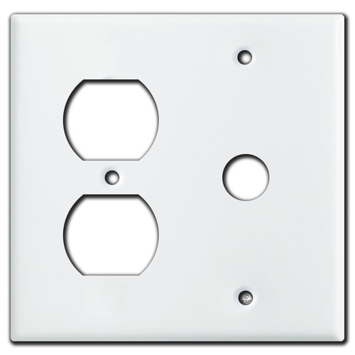 1 Outlet 1 Telephone Cable Wall Cover Plates - White