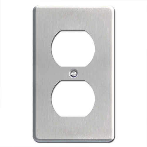 Extra Deep Stainless Steel Outlet Switch Plate