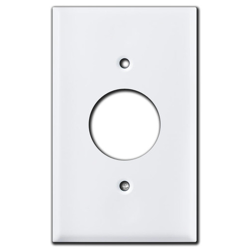 Single Receptacle Wall Plates - White