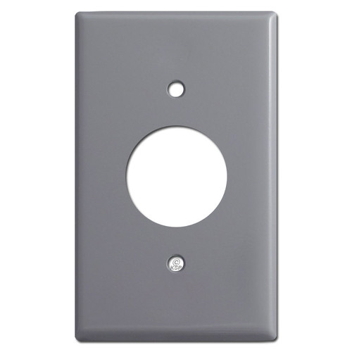1 Receptacle Plate Covers - Gray