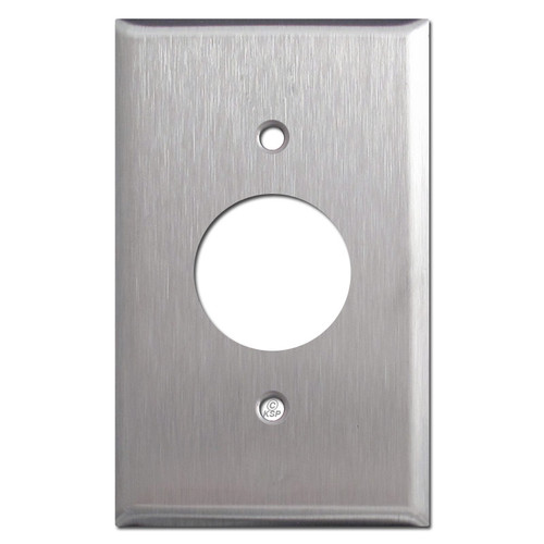 Stainless Steel Round Power Outlet Cover Plate