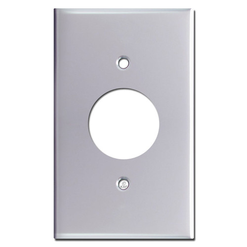 1 Plug Wall Plates - Polished Chrome