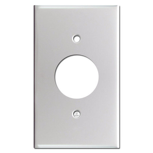 One Receptacle Plate Covers - Brushed Aluminum