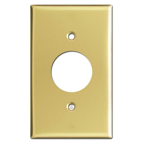 One Plug Covers - Polished Brass