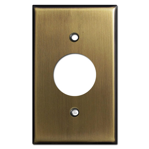 Single Receptacle Plate Covers - Antique Brass