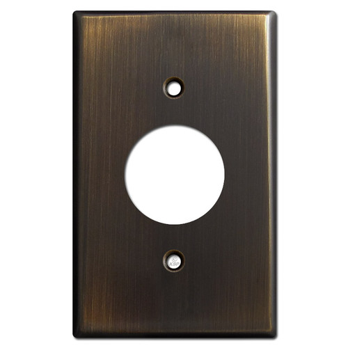 Single Power Outlet Cover Plates - Oil Rubbed Bronze