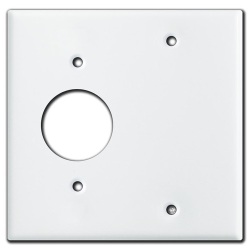 1 Round Outlet 1 Blank Wall Covers - White