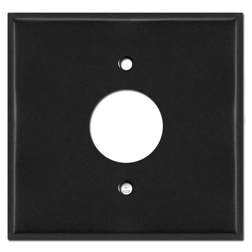 Extra Wide Single Receptacle Wall Covers - Black