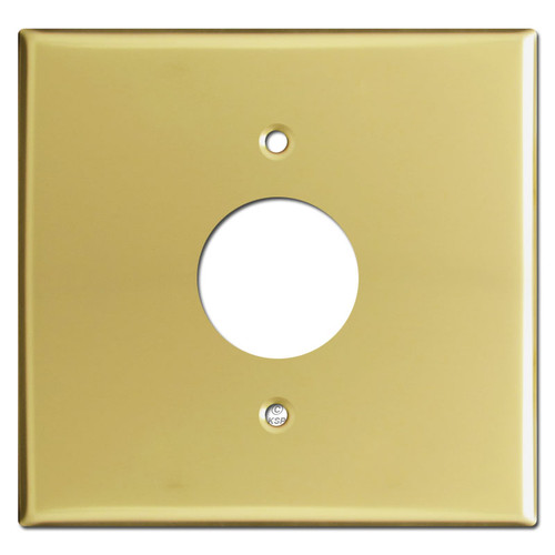 Wider Single Receptacle Wall Plates - Polished Brass