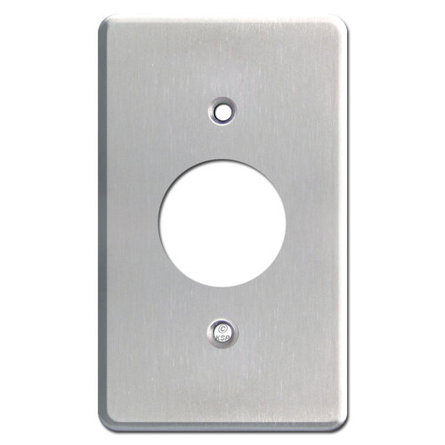 Deep Single Receptacle Wall Plate in Satin Stainless Steel