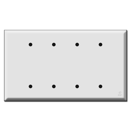 Jumbo Four or 4 Blank Switch Plate Covers
