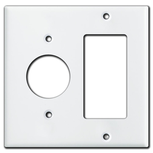 Single Rocker Single Receptacle Wall Plate Covers - White
