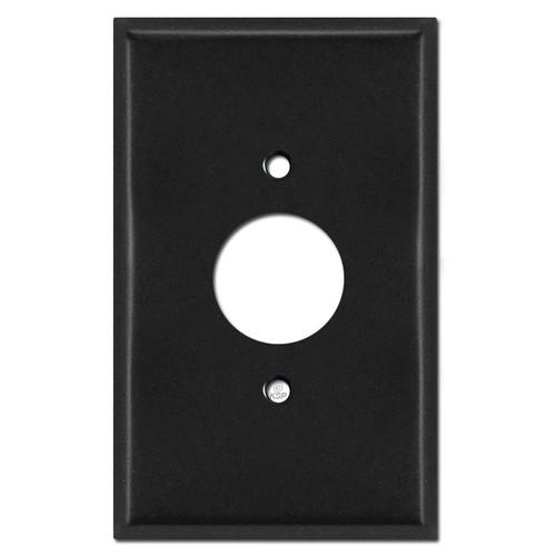 Jumbo 1 Power Outlet Wallplate - Black