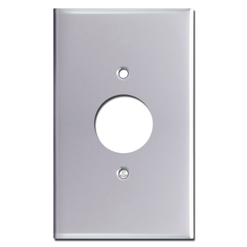 Oversized 1 Power Outlet Wall Plate - Polished Chrome