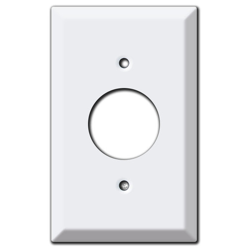 Raised Duplex Outlet Wall Plates - White