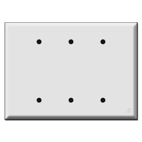 Oversized Triple or 3 Blank Switch Plates