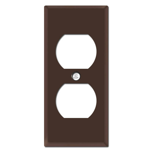 "2"" Skinny Outlet Wall Cover Plates - Brown"