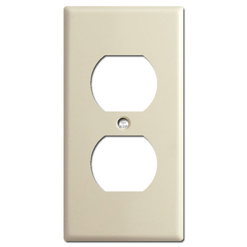 """2.25"""" Skinny Outlet Cover Plates - Ivory"""