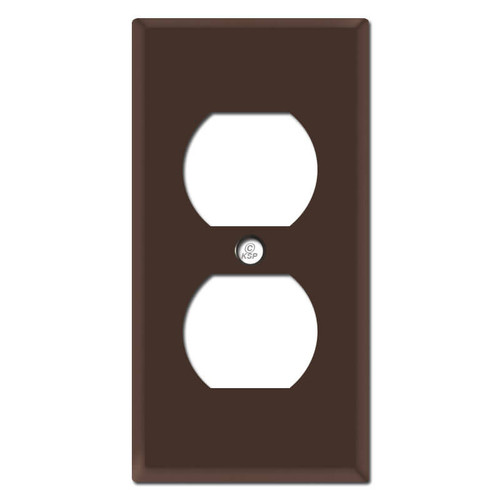 "2.25"" Slim Outlet Wall Plate - Brown"