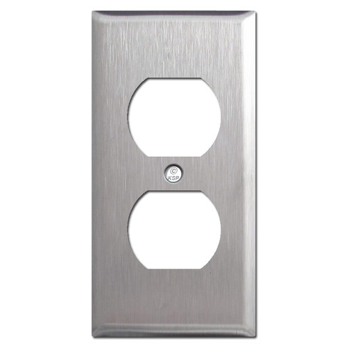"""2.25"""" Compact Outlet Wallplate - Spec Grade Stainless Steel"""