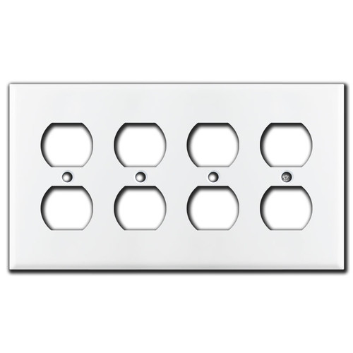 4 Outlet Wall Plate - White