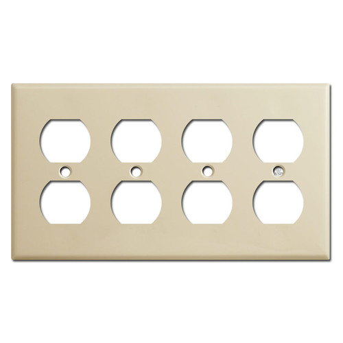 4 Outlet Switch Plate - Ivory
