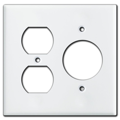 Duplex Outlet and 20A Single Outlet Wall Plates - White