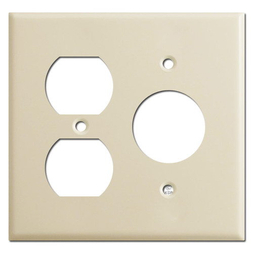 Duplex Outlet Single Outlet Switch Plates - Ivory