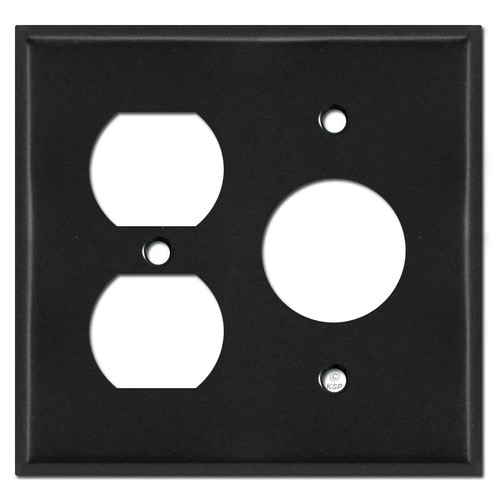 Duplex and Single Outlet Wall Plates for 3 plugs - Black