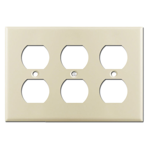 3-Gang Duplex Outlet Cover - Ivory