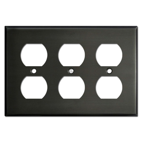Triple Outlet Cover - Dark Bronze