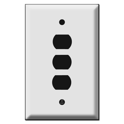 Jumbo Stacked Three Hole Despard Switch Plate Covers