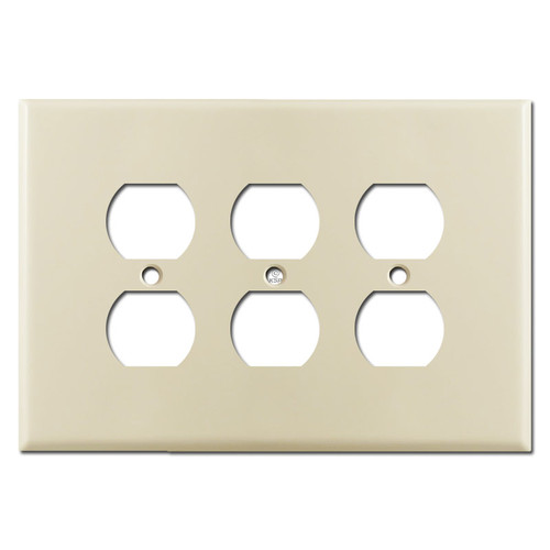 Oversized 3 Gang Outlet Covers - Ivory
