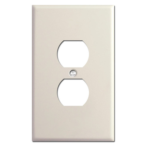 Oversized Duplex Wall Plate - Light Almond