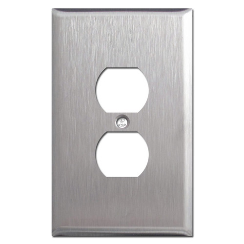 Stainless Steel Oversized Duplex Outlet Cover Plate