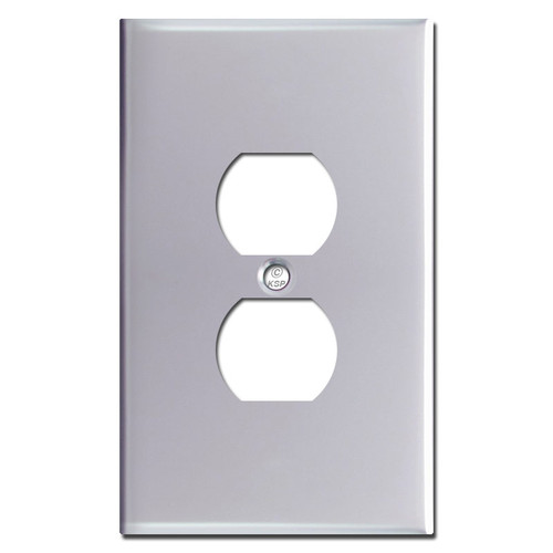 Jumbo Outlet Cover - Polished Chrome
