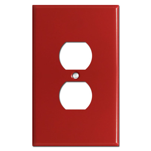 Jumbo Outlet Plates - Red