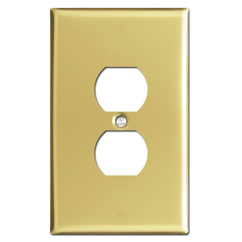 Jumbo Size Outlet Covers - Polished Brass